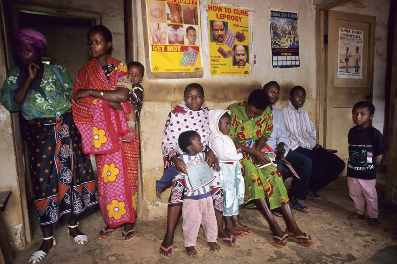 Patients waiting a dispensary to be treated, <p>Tanzania